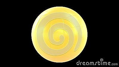 Siatkówki piłki 360 obracania pętla zdjęcie wideo