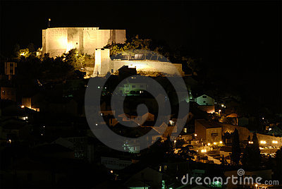 Sibenik-knin city night scene, Croatia