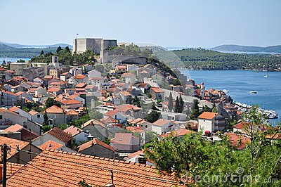 Sibenik view with st. michael fortress