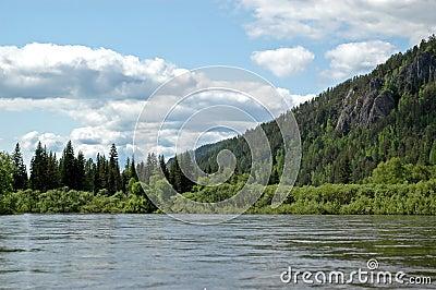 The Siberian mountain river Mana