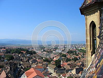 Aerial of Sibiu, Romania