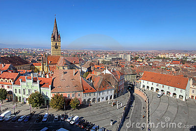 Sibiu aerial, Romania