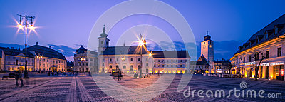 Sibiu Center by night