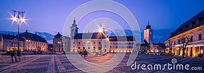 Sibiu Center by night
