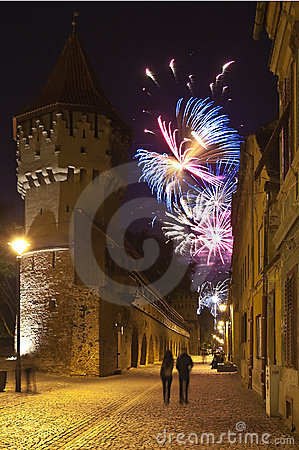 Free Sibiu Fireworks Royalty Free Stock Images - 19791909