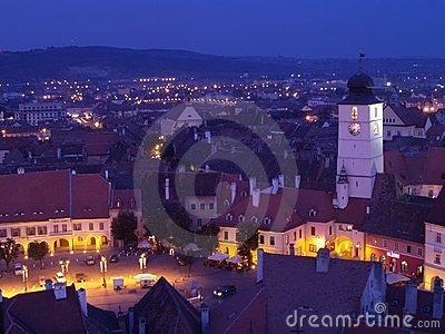 Sibiu at sunset