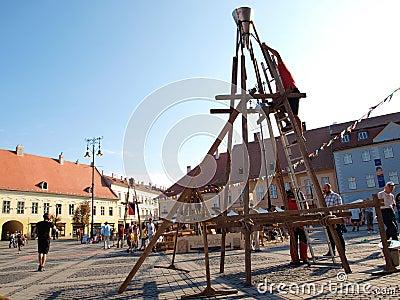 Sibiu Transylvania medieval Festival Editorial Photography