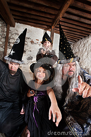Sibling Wizards and Father