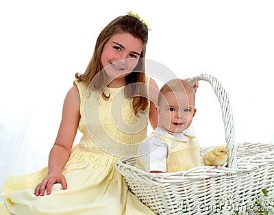 Siblings - One in Basket