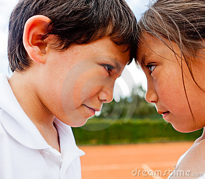 Siblings Rivalry Stock Photos - Image: 23159973