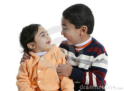 Siblings Sharing a Laugh