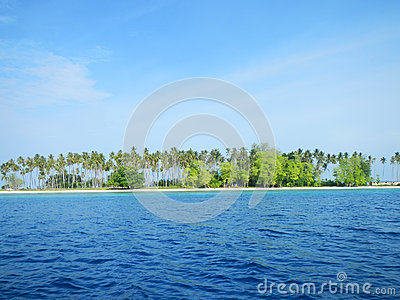 Sibuan Island with trees