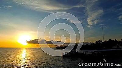 Sibulan mola wschód słońca zbiory wideo
