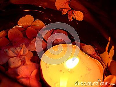 Sich hin- und herbewegende Kerze