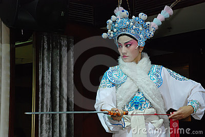 Sichuan Opera actress Editorial Stock Photo