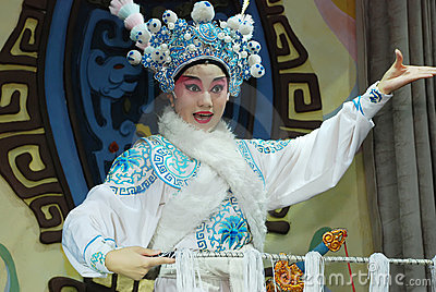 Sichuan Opera actress Editorial Stock Image