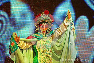 Sichuan opera arts in China: Change the face Editorial Stock Photo