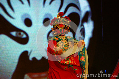 Sichuan opera arts in China: Change the face Editorial Stock Image