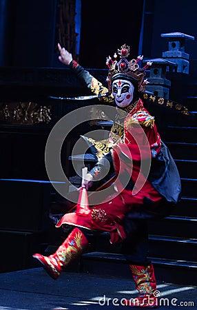 Sichuan opera face Editorial Stock Photo