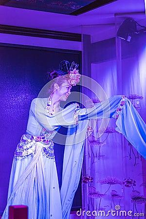 Sichuan opera performance Editorial Stock Photo