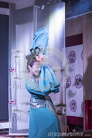 Sichuan opera performance Editorial Stock Photo