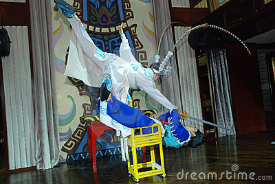 Sichuan Opera,somersault Editorial Stock Photo