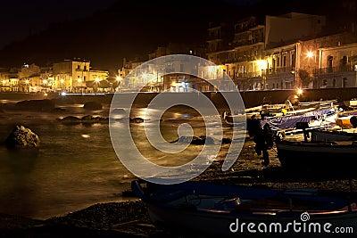 Sicilia - town view at night