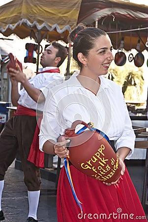 Sicilian folk group from Polizzi Generosa Editorial Stock Image