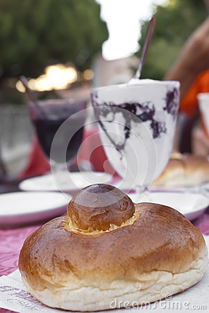 Sicilian granita and brioche