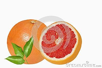 Sicilian red oranges on white backround