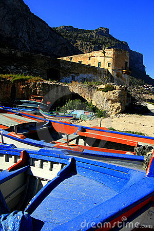 Free Sicily, Ancient Sea Castle Royalty Free Stock Photos - 4987878