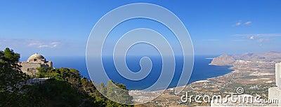 Sicily coastline panorama, Italy