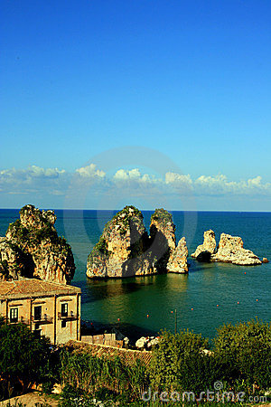 Free Sicily Seascape, Tonnara Scopello Stock Photography - 12542582