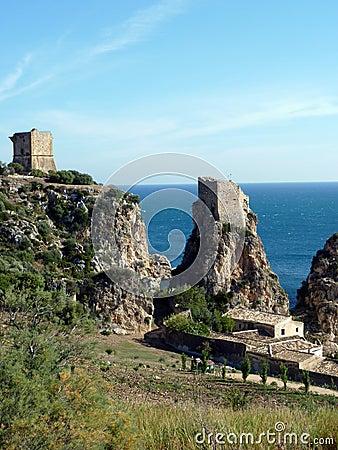 Sicily seascape, Tonnara Scopello