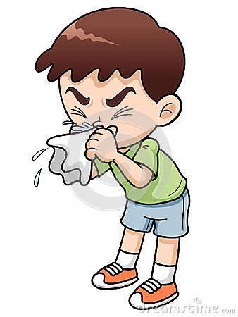 Free Sick Boy Cartoon Royalty Free Stock Image - 29081156