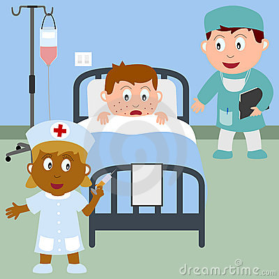 Free Sick Boy In A Hospital Bed Royalty Free Stock Photos - 9590078