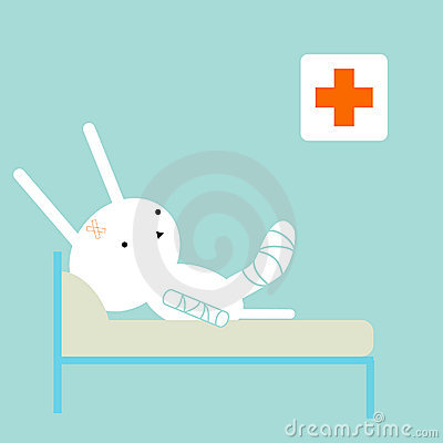 Free Sick Bunny Stock Photography - 8969602
