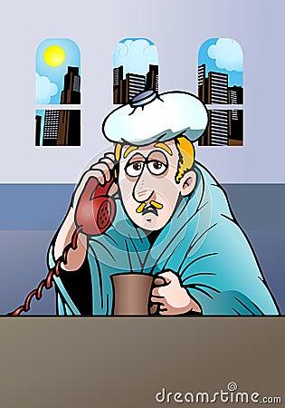Sick Businessman