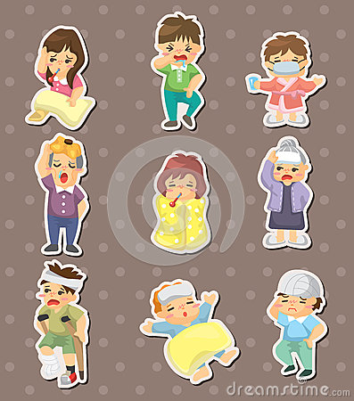 Sick Character stickers