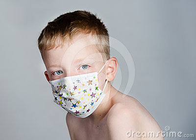 Royalty free stock photos sick child