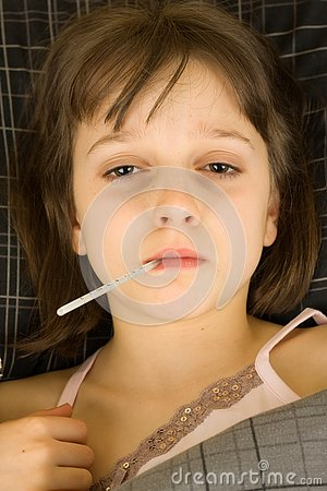 Free Sick Child Royalty Free Stock Photos - 4185738