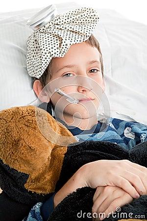 Free Sick Child Royalty Free Stock Photos - 8051838