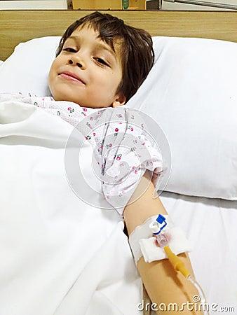Sick child being optimistic