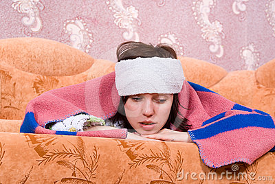 Sick Girl At Home Royalty Free Stock Images - Image: 24538479