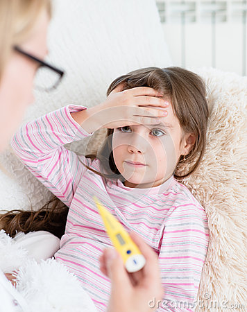 how to break a high fever in a child