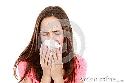 Sick preteen girl