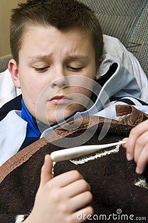 Sick teenage boy