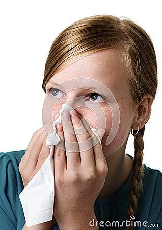 Sick teenage girl