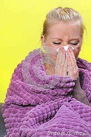 Sick woman.