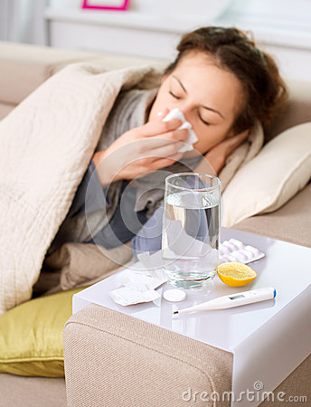 Free Sick Woman. Flu Royalty Free Stock Photos - 27697758